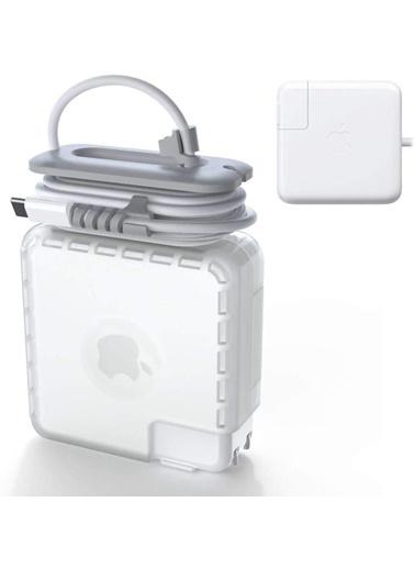 Techmaster Macbook Magsafe USB-C 60W 61W Şarj Aleti Koruma Kabı Kılıfı Renkli